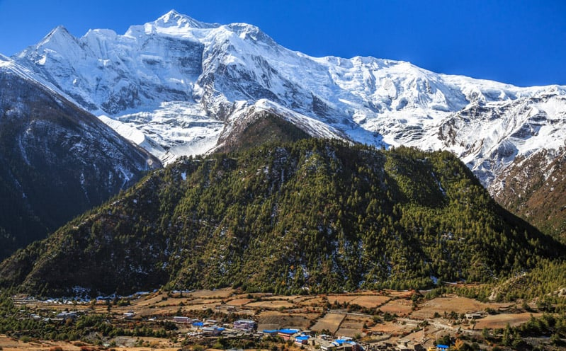 Lower Pisang, Annapurna Circuit, Nepal