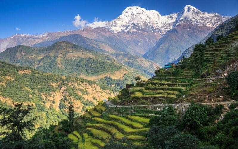 Rural Landscape, Landruk, Annapurna Circuit, Nepal