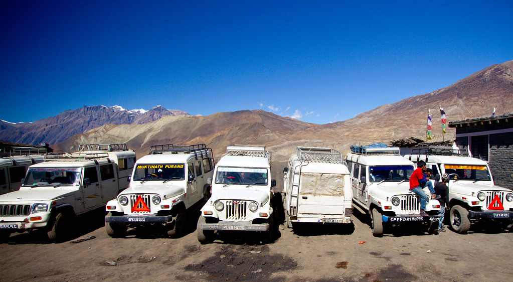 Jeep station in Muktinath