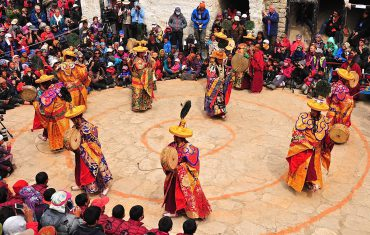 People dancing in Upper Mustang on the occasion of