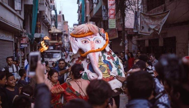Indra Jatra Festival in Kathmandu Valley.