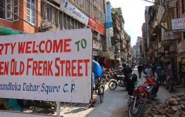 Freak Streets in Kathmandu